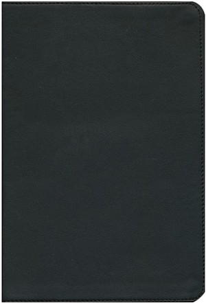 NASB Large Print Reference Bible - Black, Genuine Leather