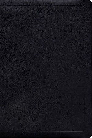NASB Large Print Reference Bible - Black, Calfskin Leather