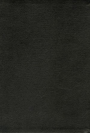 NASB Giant Print Reference Bible - Black, Genuine Leather, Indexed